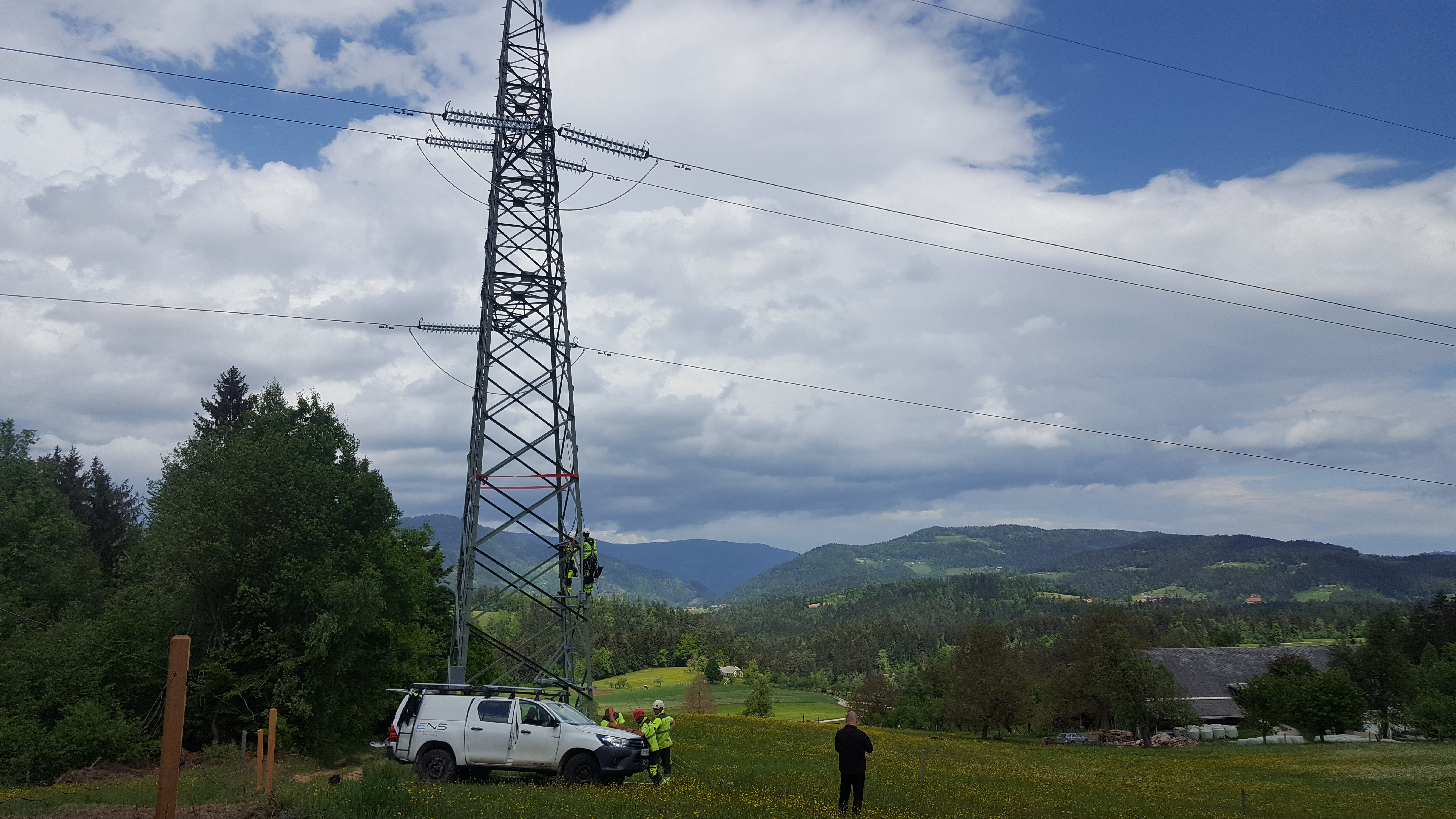 18 transmission towers equipped with the steel structures for innovative weather stations