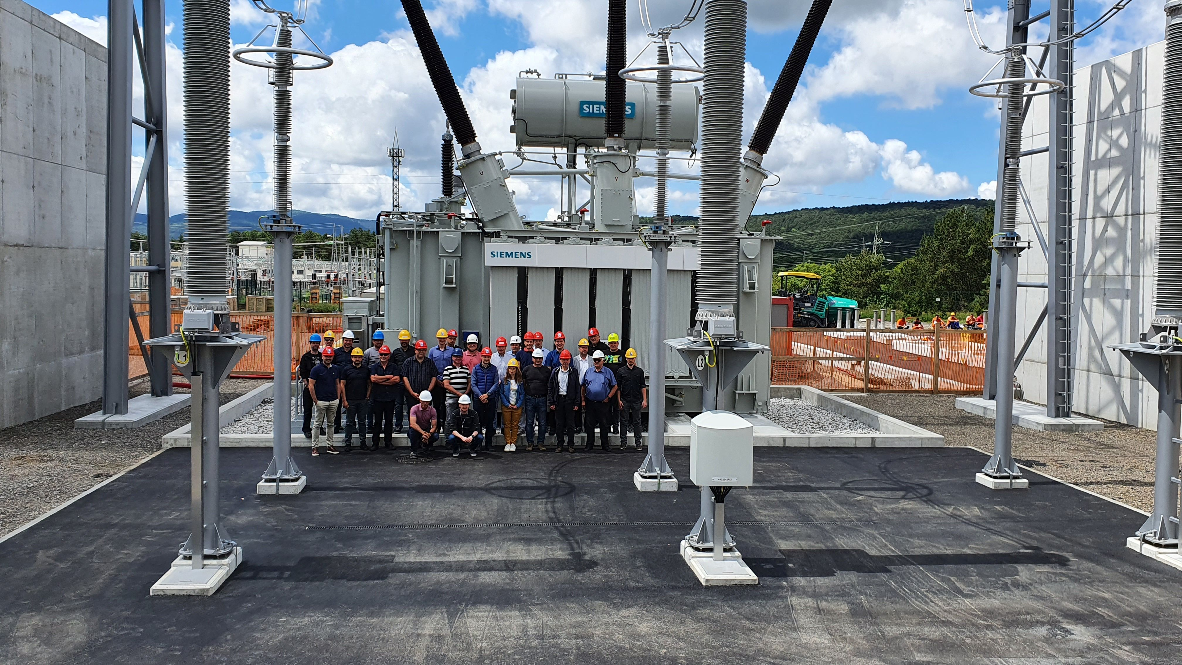 Successful trial connection of the variable shunt reactor in Divača substation