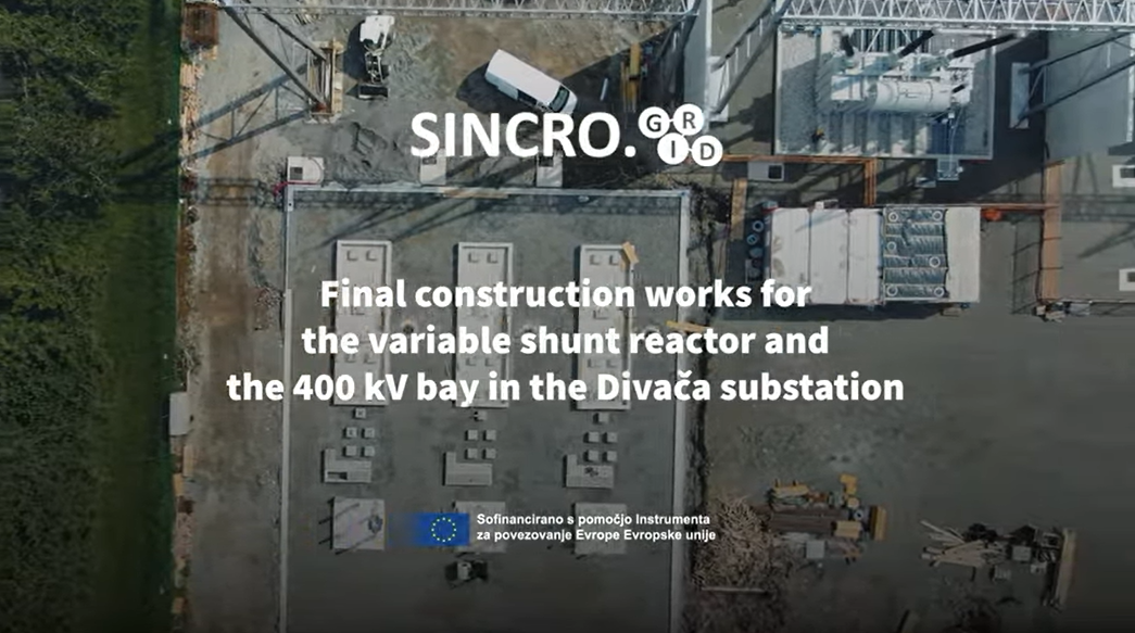 Watch new video about the final construction works for the VSR in the Divača substation